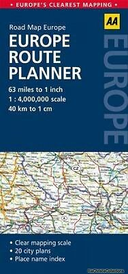 Europe Route Planner AA Publishing Sheet map folded New Book Free UK Delivery