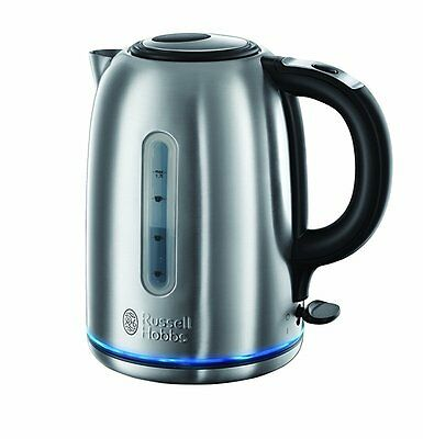 Russell Hobbs 20460 Buckingham Quiet Boil Kettle, 1.7 L, 3000 W - Brushed Stainl