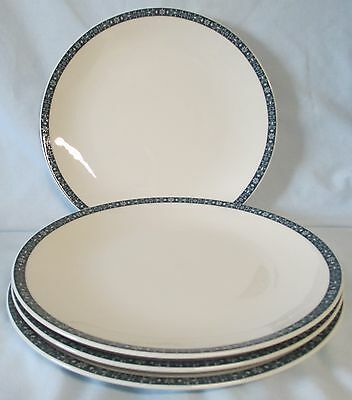 Royal Doulton Moonstone TC1023 Dinner Plate set of 4