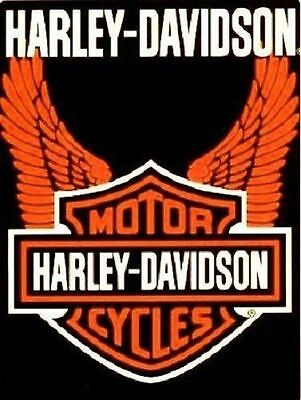 """Harley Davidson"" Orange Wings Officially Licensed Queen Size Blanket"