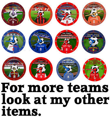 Football Teams Cd Clock, Personalised, Gift Box, Stand, Premier League, Soccer 1
