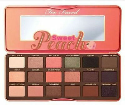 new Too Faced Sweet Peach Eye Shadow Collection Palette 18 Colors Eyeshadow Make