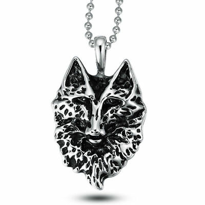 Wholesale Lot 3Pcs Fashion Stainless Steel Fox Chain Necklaces Pendants Jewelry