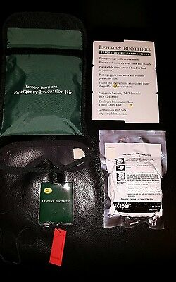 Brand New LEHMAN BROTHERS Emergency Evacuation Kit Memorabilia Financial Crisis