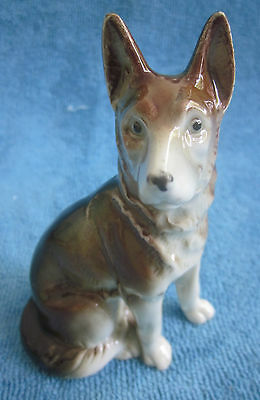 vintage German porcelain ALSATIAN - GERMAN SHEPHERD DOG figurine