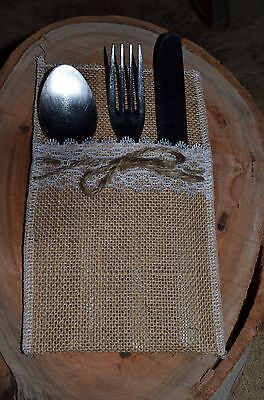 rustic cutlery pouches