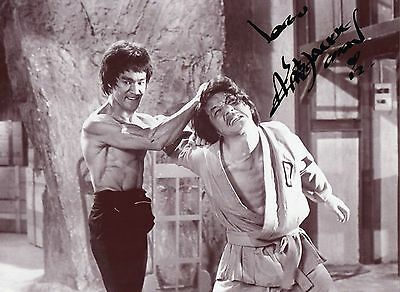 "Authentic Jackie Chan Signed  "" Enter The Dragon "" 12X8 Bruce Lee Real Sig Coa"