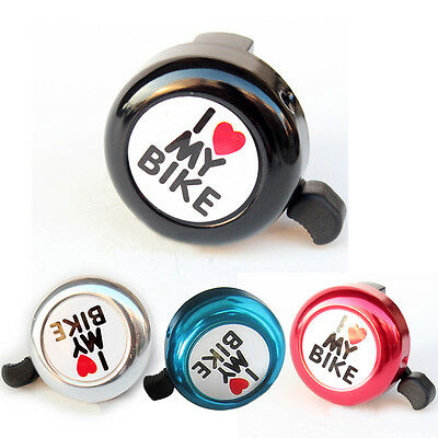 Bike Bicycle Horn Bell For Kids Cycling Bell I Love my Bike Aluminum Alloy Chic