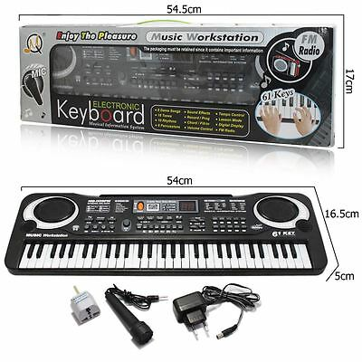 61 Keys Digital Music Electronic Keyboard Electric Piano Organ Amateur Gift UK