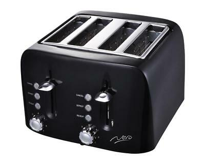 Nero 4 Slice Square Toaster Black