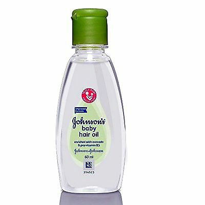 New Johnson's Baby Hair Oil 60ml For Hair Growth Soft & Silky Touch Avocado