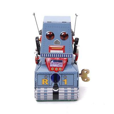 TIN TOY WIND UP TANK ROBOT Vintage Retro Style mechanical clockwork Gift