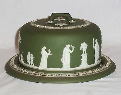 Wedgwood Green Dip Cheese Dome