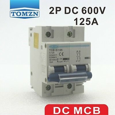 2P 125A DC 600V Circuit breaker FOR PV System C curve