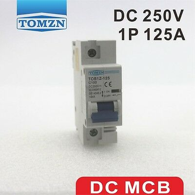 1P 125A DC 250V Circuit breaker FOR PV System C curve