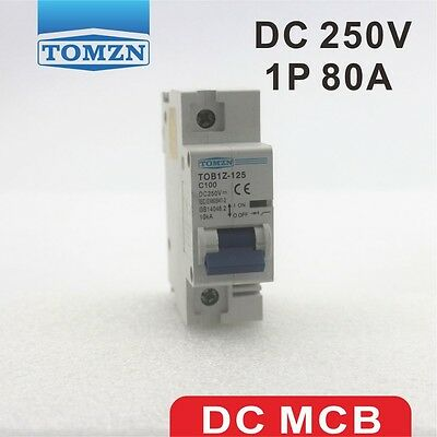 1P 80A DC 250V Circuit breaker FOR PV System C curve