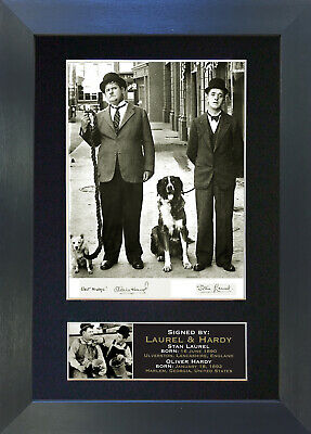 LAUREL & HARDY Signed Mounted Autograph Photo Prints A4 19