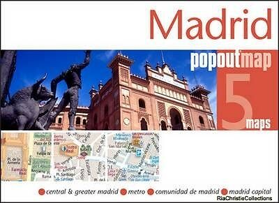 Madrid Popout Map PopOut Maps Sheet map folded New Book Free UK Delivery