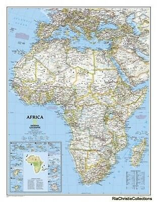 Africa 9780792250104 National Geographic Maps Sheet map New Book Free UK Deliver