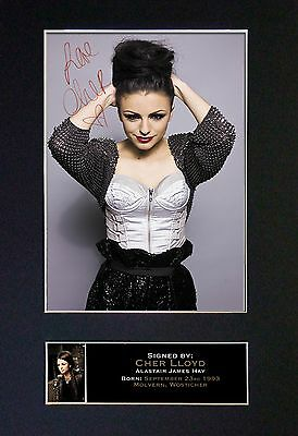 CHER LLOYD Signed Mounted Autograph Photo Prints A4 220