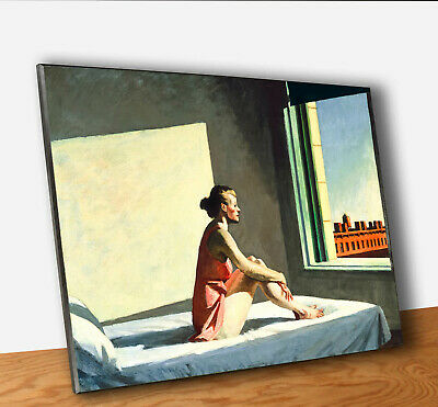 Edward Hopper Morning Sun Stampa su Tavola MDF Quadro Pannello Fine Art