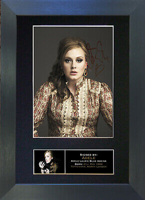 ADELE Signed Mounted Autograph Photo Prints A4 251