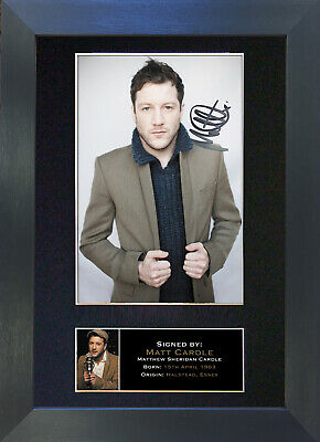 MATT CARDLE Signed Mounted Autograph Photo Prints A4 149