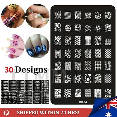 NEW Nail Art Stamp Template Image Polish Stamping Plate Manicure Stencil Design