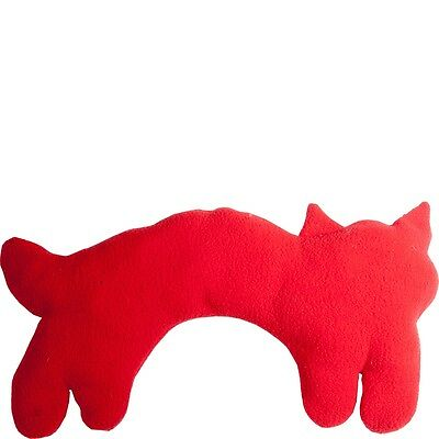 NEW Cozy Cat Neck Warmer Wheat pack Shoulder Heat Microwaveable Red Polyester