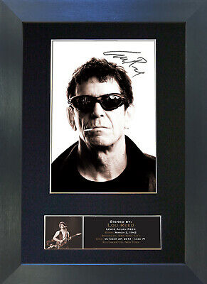 LOU REED Signed Mounted Autograph Photo Prints A4 396