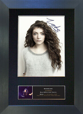 LORDE Signed Mounted Autograph Photo Prints A4 434