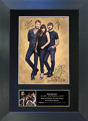 LADY ANTEBELLUM Signed Mounted Autograph Photo Prints A4 261
