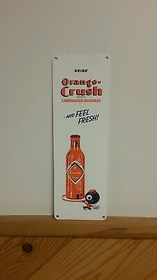 Orange Crush Door Push Sign Stoer Soda Pop Drink
