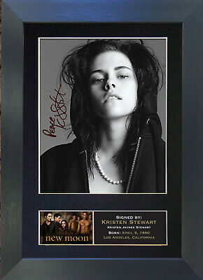 KRISTEN STEWART New Moon Signed Mounted Autograph Photo Prints A4 21