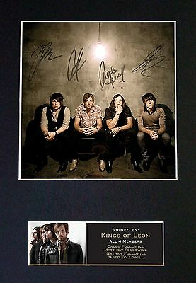 KINGS OF LEON Signed Mounted Autograph Photo Prints A4 197