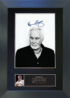 KENNY ROGERS Signed Mounted Autograph Photo Prints A4 361