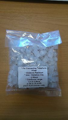 100 x GENUINE 8A 2 WIRE TELEPHONE JELLY CRIMPS BT VIRGIN TELECO CONNECTOR JOINER