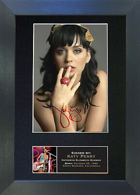 KATY PERRY Signed Mounted Autograph Photo Prints A4 232