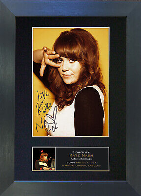 KATE NASH Signed Mounted Autograph Photo Prints A4 321