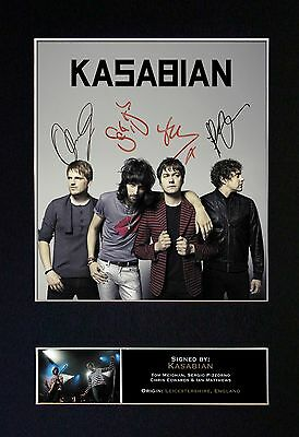 KASABIAN Signed Mounted Autograph Photo Prints A4 119