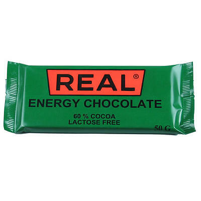 Drytech REAL ENERGY CHOCOLATE 50g 60% Cocoa - for climbers, hikers, adventurers