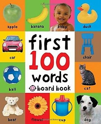 Baby First 100 Words Toddler Early Learning Educational Board Book Pictures