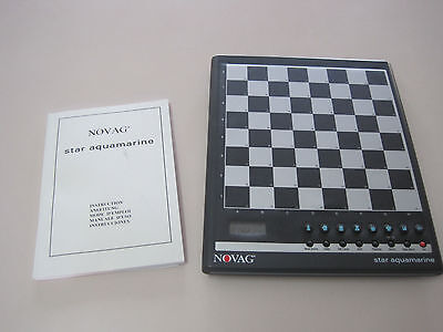 Novag Star Aquamarine Electronic Chess Board only for parts or repair, READ
