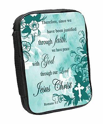 Romans 5:1 Bible Cover (81412) NEW Justified Through Faith