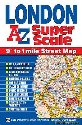 London Super Scale Map Geographers A-Z Map Co. Ltd. Sheet map folded New Book Fr