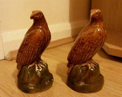 Pair of Beswick Eagle Beneagles Scotch Whisky modelled by J G Tongue 1969