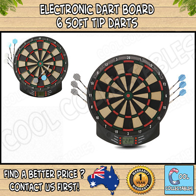 - New -  Electronic Dart Board - 6 soft tip darts - Up to 8 players - Black