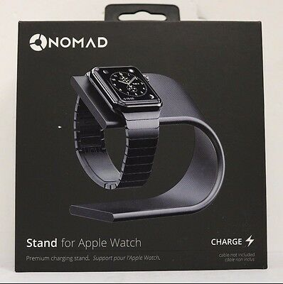 Nomad Premium Aluminum Charging Stand For Apple Watch Space-Gray