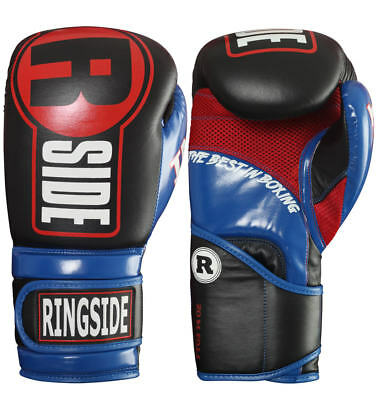 Ringside Leather Sparring Gloves 16oz - Boxing Kick MMA Cardio Gear Fitness T...