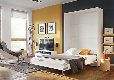 Brand New Vertical Wall Hidden Fold Away Pull Out Murphy Bed 3 Sizes 5 Colours